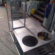 转让放在三轮车烧鸭粉不锈钢架